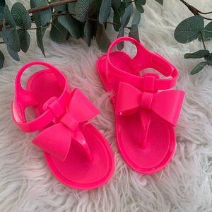 NWOT Hot Pink Sandals